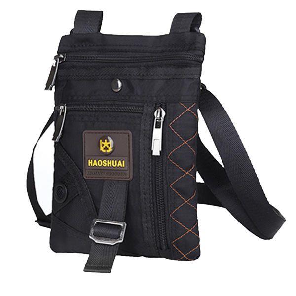 Men Nylon Waterproof Vertical Crossbody Bag Lightweight Casual Travel Shoulder B - US$13.99  #men #women  #bags #fashion