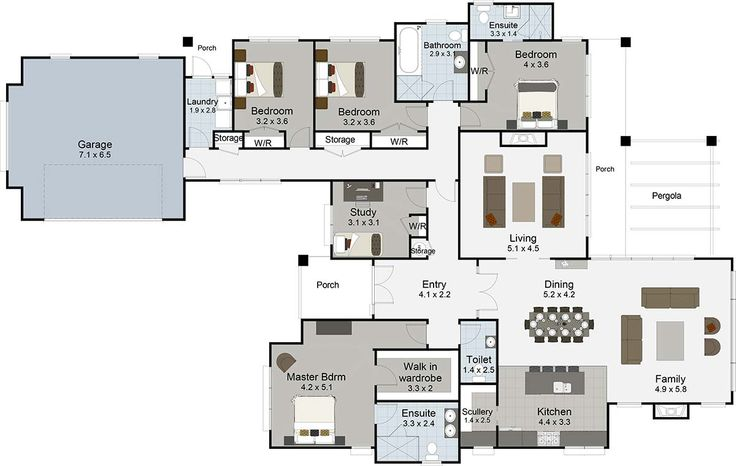 Wakatipu 5 bedroom house plans Landmark Homes builders NZ