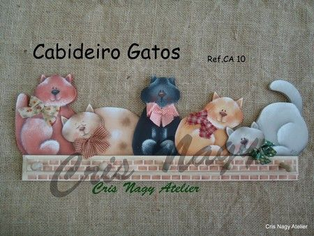 Cabideiro Gatos