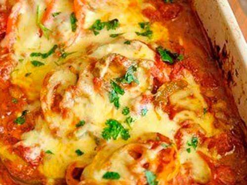 """Chicken """"Picasso"""". Recipe: http://wonderdump.com/chicken-picasso/"""