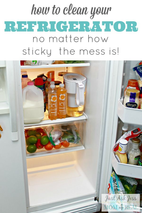 how to get a clean refrigerator no matter how sticky the mess is cleanses the o 39 jays and. Black Bedroom Furniture Sets. Home Design Ideas
