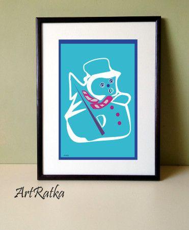 Plakat A-3 - motyw świąteczny - ArtRatka - Wystrój pokoju dziecięcego