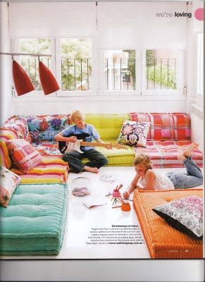 Gigantic floor cushions / kid's rumpus room / floor pillows