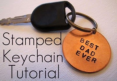 gifts for guys guest tutorial- stampled keychain by from an igloo | kojodesigns