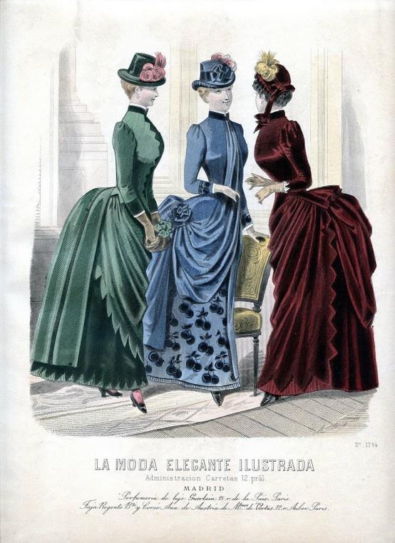 Victorian Fashion Plate, c. 1885
