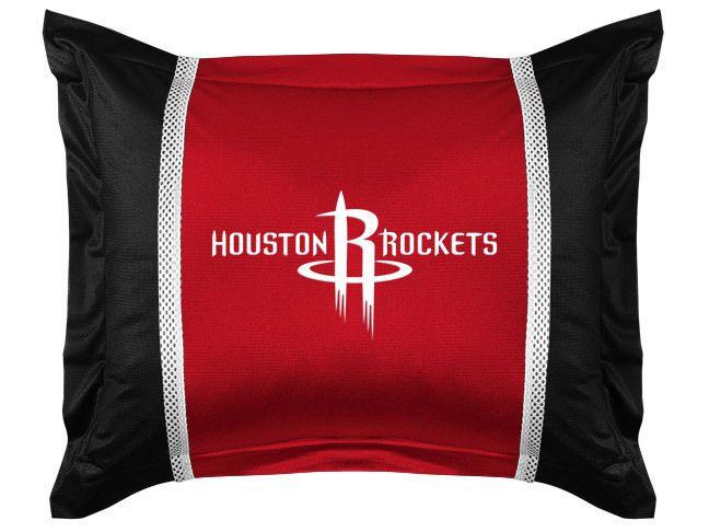 Houston Rockets NBA Sports Coverage Team Color Standard Sidelines Sham #SportsCoverage