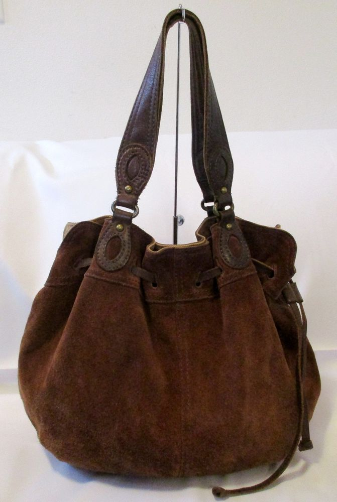 GORGEOUS LUCKY BRAND BROWN SUEDE LEATHER HOBO STYLE SHOULDER BAG HANDBAG  PURSE   Clothing, Shoes   Accessories, Women s Bags   Handbags   eBay! 4c4c3a1456