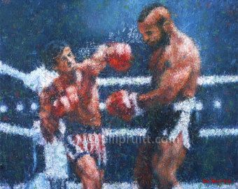 Sylvester Stallone Rocky 3 Clubber art print 12x14 signed and dated Bill Pruitt