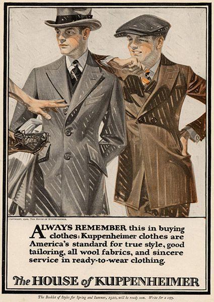 House of Kuppenheimer ad, c. 1920