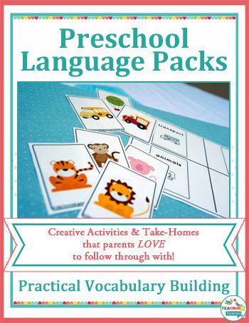 language preschool preschool language activities for vocabulary building by 895
