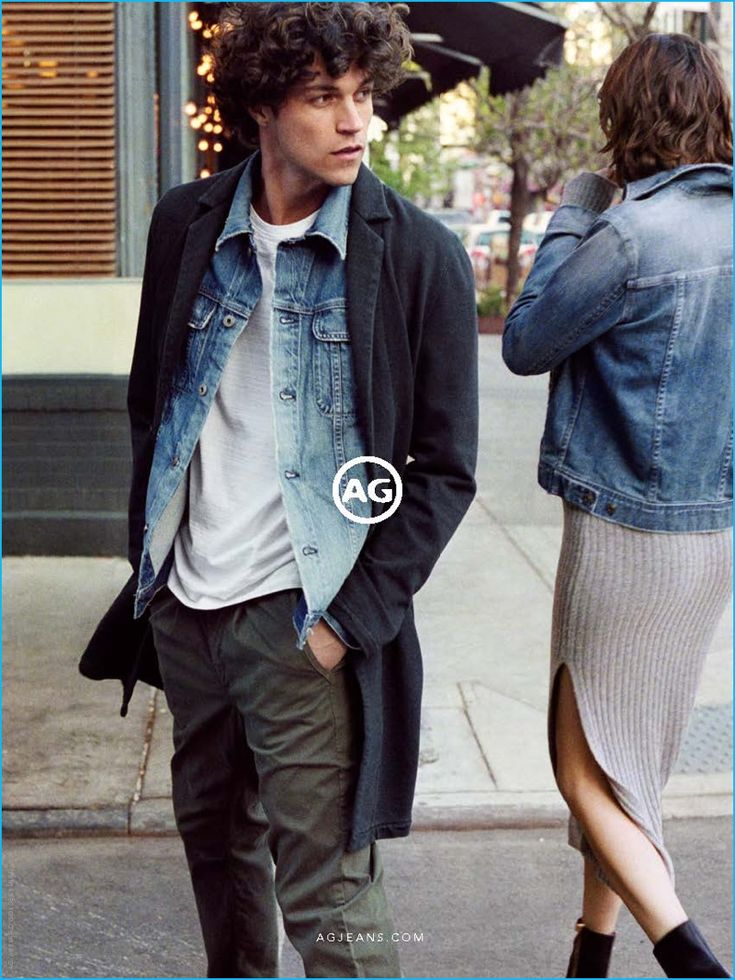 Heading outdoors in denim essentials, Miles McMillan stars in AG Jeans' fall-winter 2016 campaign.
