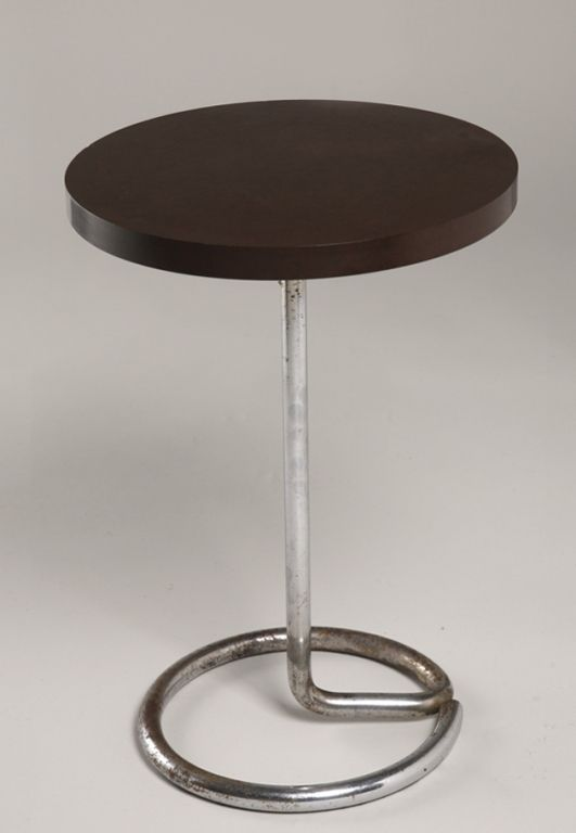 Bakelite And Chrome Occasional Table Attrib. To Rene Herbst