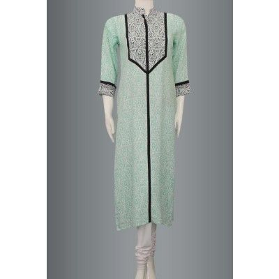 Sea Green Very Vintage soft cotton Kurti