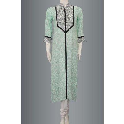 Sea Green Very Vintage soft cotton Kurti