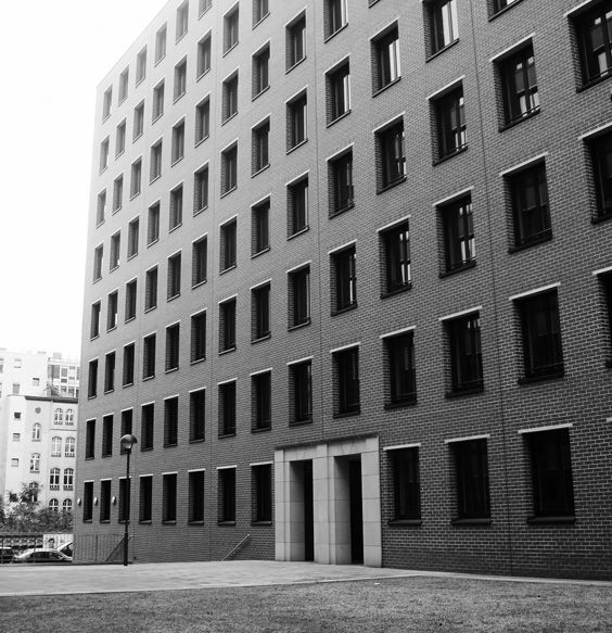 Giorgio Grassi Building complex at Potsdamer Platz, Berlin,1993 His extremely formal work is predicated on absolute simplicity, clarity, and honesty without ingratiation, rhetoric, or spectacular shape-making; it refers to historical archetypes of form and space and has a strong concern with the making of urban space. For these reasons Grassi is a non-conformist and a critic of conventional mainstream architecture. from wikipedia introduction