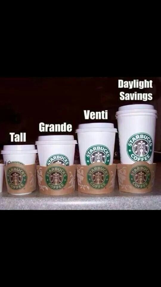 Daylight savings is the Vento, but it has the same amount of caffeine as a Grande just more milk and syrup