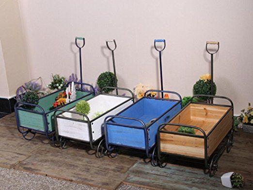 New day®-Industriel vintage stockage de chariot de manipulation des outils décoratifs ornement fleur de jardin flotteurs 6 * 13 * 27CM , white , 52.5*29.5*74.5cm: Amazon.fr: Cuisine & Maison