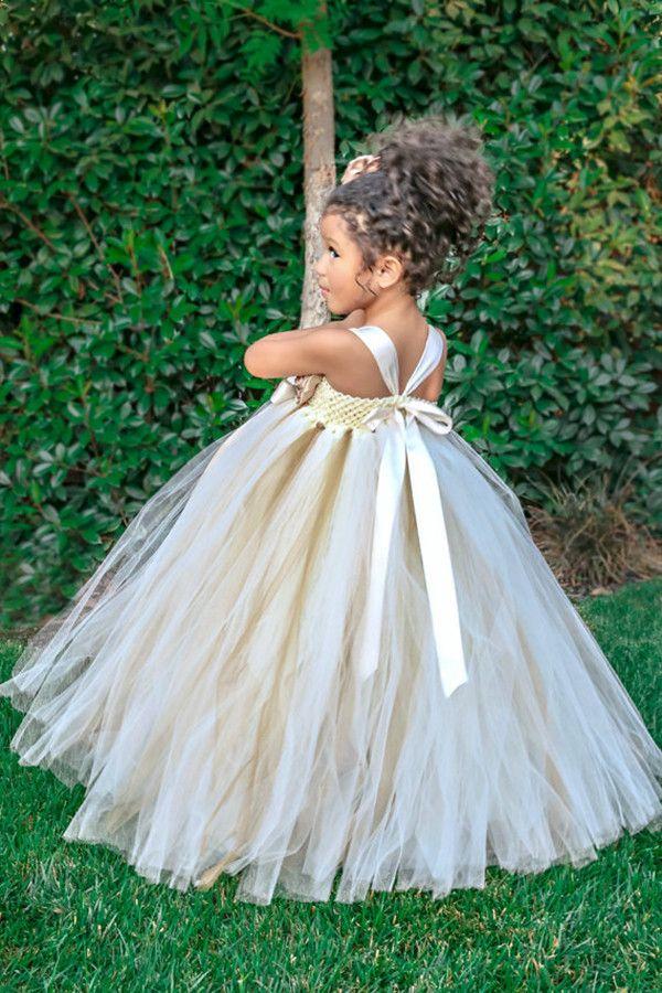 94cec101a6 Tulle Flower Girl Dress