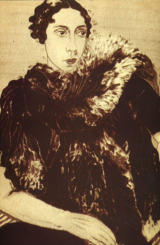 Portrait of Elsa Schiaparelli - 1932 by Laglenne