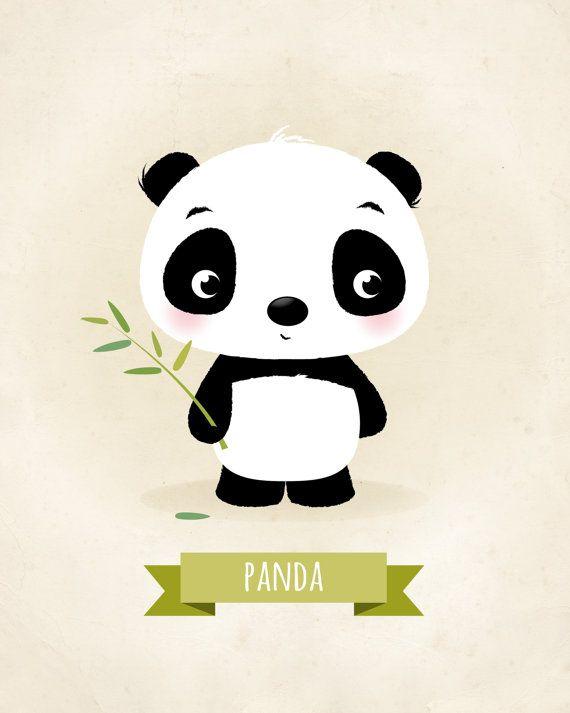 Kwekerij print Panda afdrukken kinder illustratie dierlijke