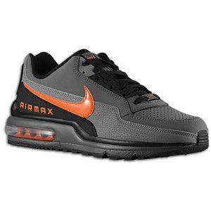 Nike Air Max LTD - Men's - Dark Grey/Safety Orange/Black/Charcoal
