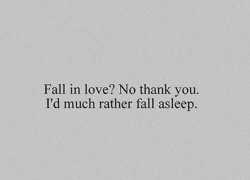 too underslept to love