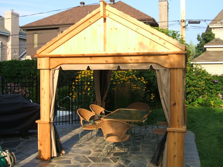 25 best ideas about gazebo en bois on pinterest gazebos. Black Bedroom Furniture Sets. Home Design Ideas
