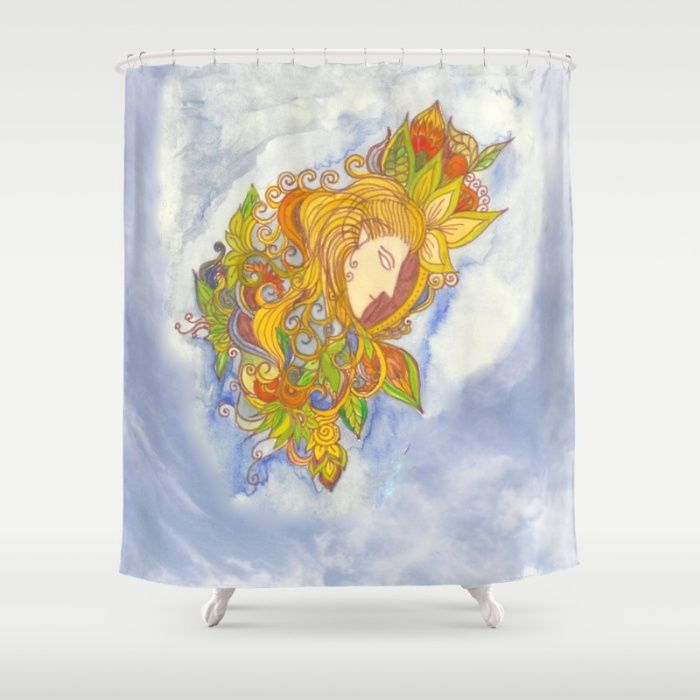 Elvenboy shower curtain  #society6 #bathroomdecor #legolas #watercolor #inkmarker #homedecor #elven #fantasy