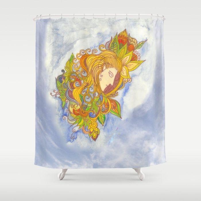 Elvenboy shower curtain  #society6 #bathroomdecor #legolas #watercolor #inkmarker #homedecor #elven #fantasy