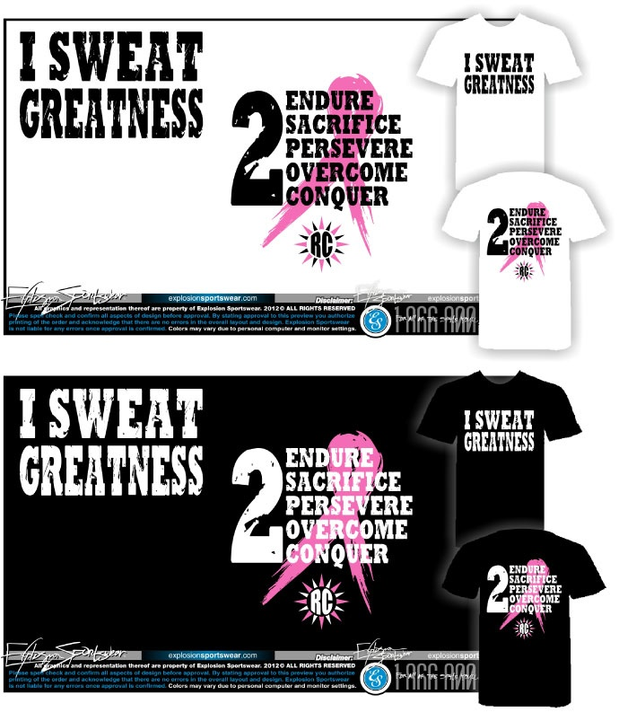 These are my BREAST CANCER SHIRTS. I SUPPORT the women who are fighting it. KEEP GOING & DON'T GIVE UP.
