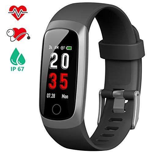 Iposible Fitness Armband Mit Pulsmesser Fitness Tracker Blutdruckmessung Schrittzahler Uhr Wasserdicht Ip67 Pulsuhr Aktivitatstracker Herzfrequenz Stoppuhr Sch