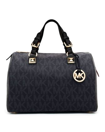 Grayson Large Logo Satchel Bag by MICHAEL Michael Kors at Neiman Marcus.