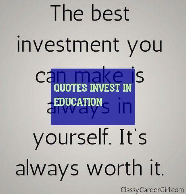 Zitate In Bildung Investieren Zitate Bildungszitate Education Quotes Investing Quotes