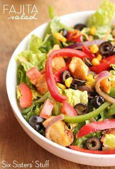 Fajita Salad Recipe from SixSistersStuff.com