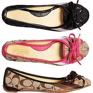 Coach flats are so pretty and classic