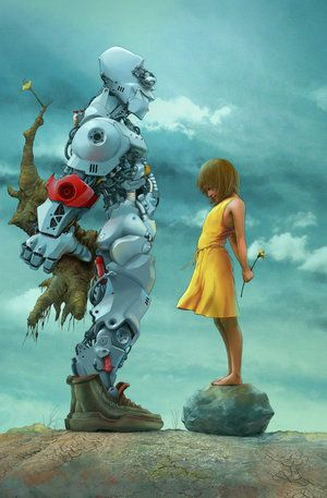 By the talented Alex Panagop: Fantasy, Robots, Girl, Illustrations, Flower Color, Digital Art, Sci Fi, Exchange