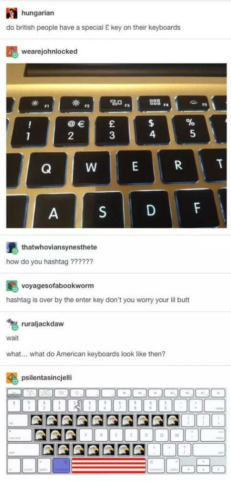 British vs American Keyboard
