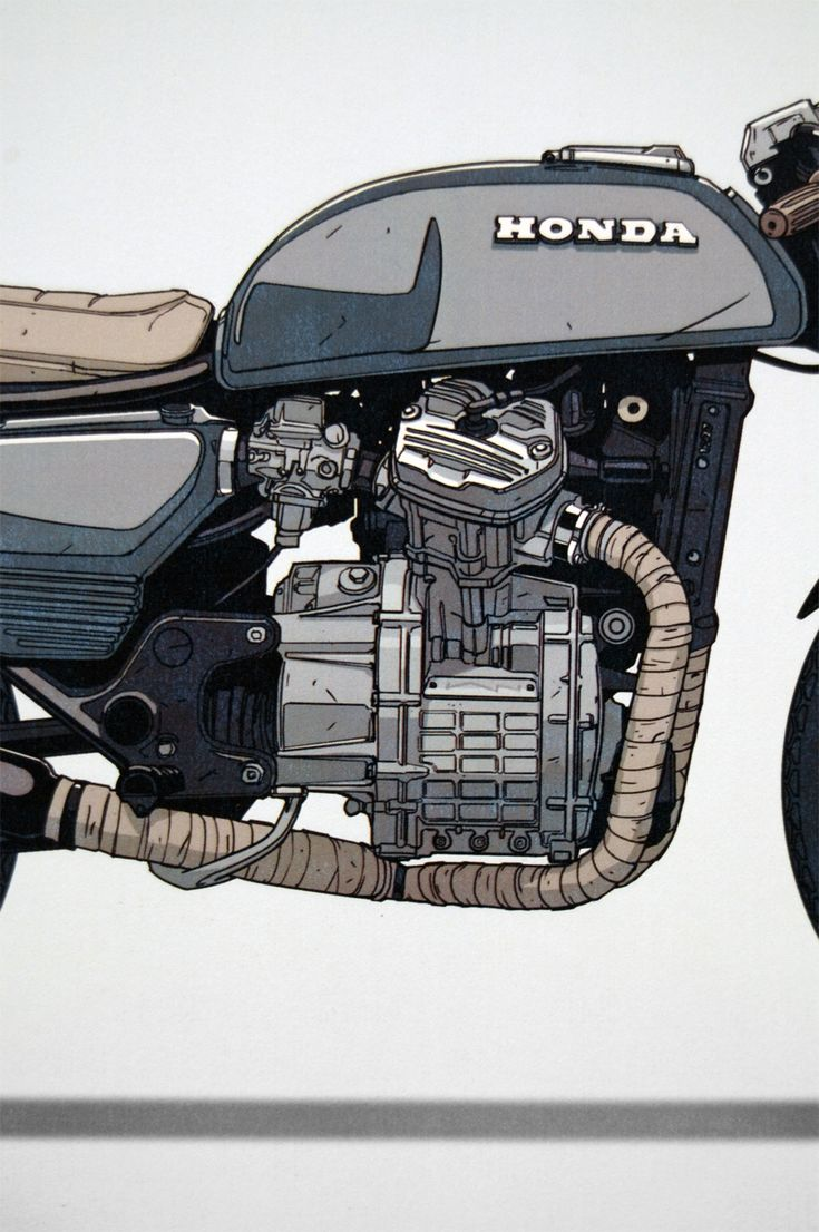 Moto-Mucci: ART&DESIGN: Ian Galvin CX500 Illustrated Prints