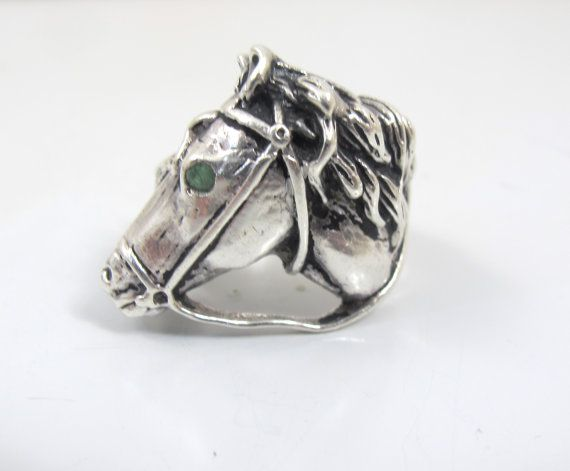 Sterling Silver Horse Ring Vintage Race Horse Head Equestrian Etsy Horse Jewelry Silver Horse Sterling Silver Horse