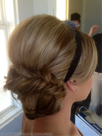 Wedding hair except with a jeweled headband