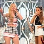 Iggy Azalea and Ariana Grande onstage at Billboard Music Awards 2014----> http://fashionilluminati.com/billboard-music-awards-fashion-photos/