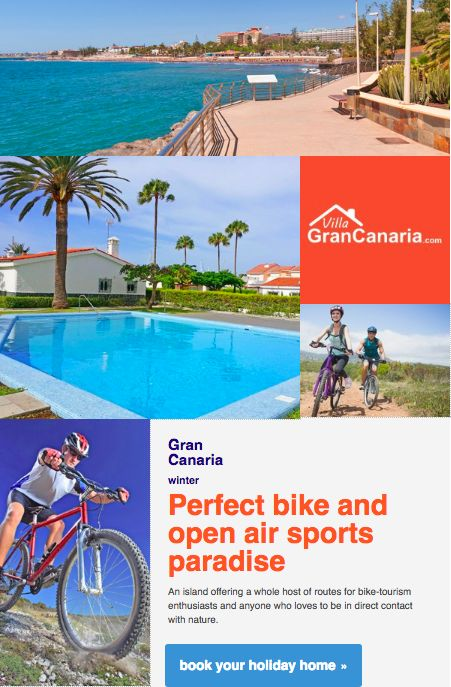 Perfect bike and open air sports paradise for your holidays. Rentals Canary Islands