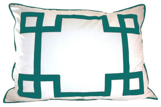 Turquoise Key Euro Sham modern-pillowcases-and-shams