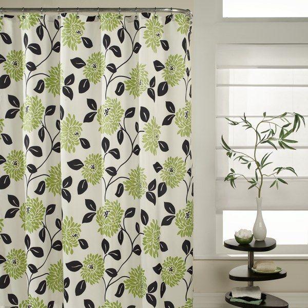 shower curtain idea bathroom color ideas pastel green and black