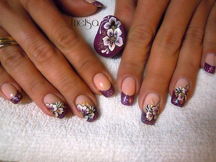 Deep purple french manicure Tutorial on youtube: http://youtu.be/FyETusoAMcM