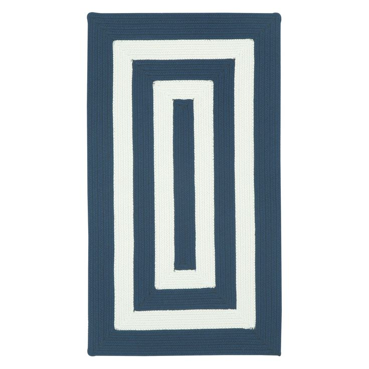 Willoughby 0848 Concentric Braided Rectangle Area Rug - Beige | from hayneedle.com