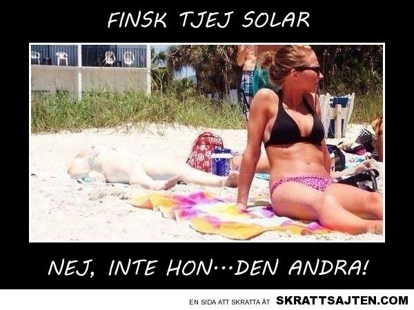 Finsk tjej solar