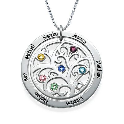 Family Tree Birthstone Necklace | MyNameNecklace