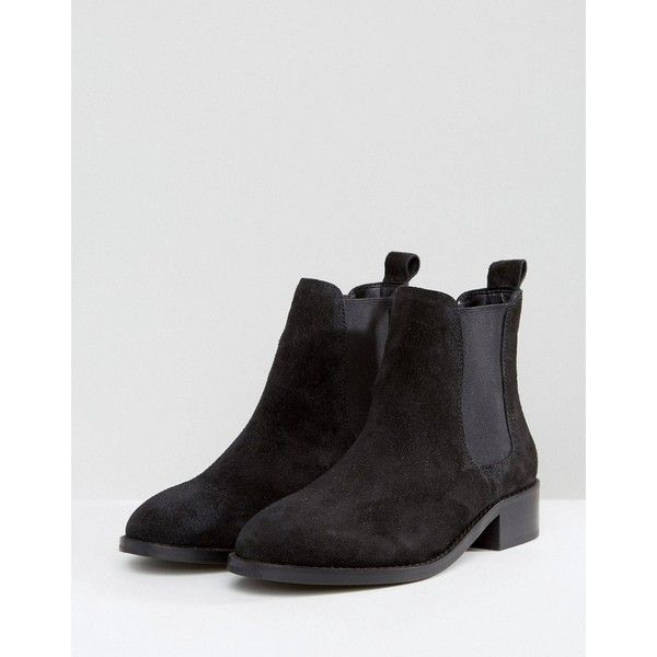 ASOS ABSOLUTE Suede Chelsea Ankle Boots ($49) ❤ liked on Polyvore featuring shoes, boots, ankle booties, beatle boots, round-toe chelsea boots, suede chelsea boots, elastic boots and asos boots