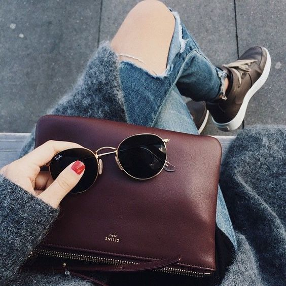 ray ban glass bag  celine bag and ray ban round sunglasses #perfection #casualstyle @smartbuyglasses